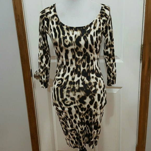 6aafca16df Guess Dresses   Skirts - Guess Los Angeles Animal Print Knit Bodycon Dress